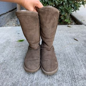 Bearpaw Emily Fur Lace Up Suede Winter Boots 5